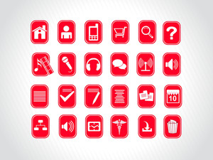 Creative Icons Sets In Red