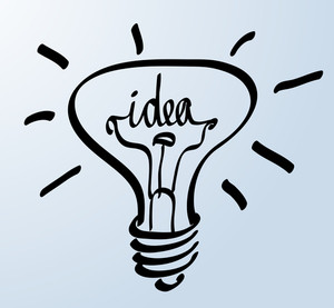 Creative Idea In Bulb Shape As Inspiration Concept. Vector