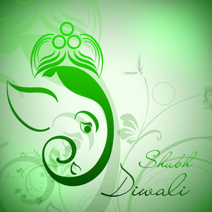 Creative Illustration Of Hindu Lord Ganesha On Colorful Background.