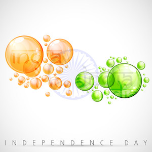 Creative Indian Flag Background With Water Bubbles.