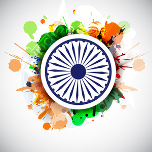 Creative Indian Flag Background.
