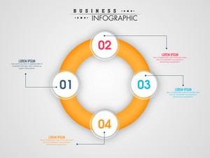 Creative infographic circle on grey background for Business purpose.