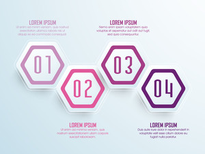Creative infographic elements on shiny background for Business.
