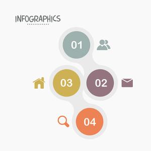 Elementos infographic criativos com diferentes símbolos para o seu negócio.