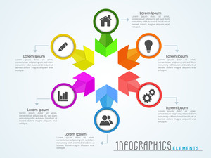 Creative infographics elements presentation with different web and business icons for your corporate needs.
