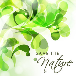 Creative Nature Concept With Green Leaves.