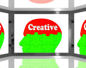 Creative On Brain On Screen Shows Human Creativity