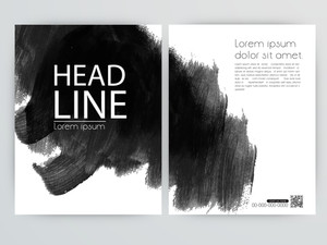 Creative one page Business Flyer Banner or Template with creative paint stroke.