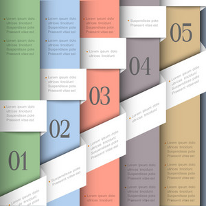 Creative Paper Numbered Banners