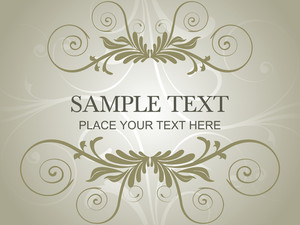 Creative Pattern Floral Frame With Sample Text