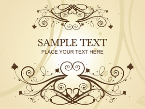 Creative Pattern Frame Illustration