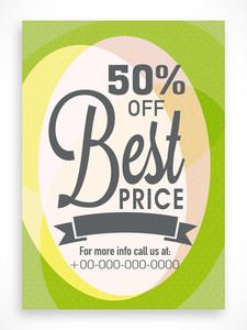 Creative poster banner or flyer design of Best Price Sale with discount offer.