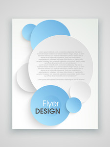 Creative professional brochure template or flyer design for corporate sector.