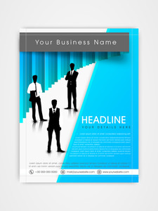 Creative professional business flyer brochure or template design.