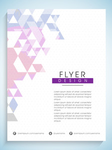 Creative professional flyer banner or template with abstract design for Business purpose.
