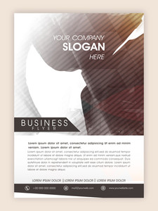 Creative professional flyer template or banner with abstract design for your business or corporate sector.
