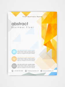 Creative professional flyer template or brochure design for corporate sector.