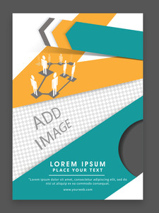 Creative professional one page Business Flyer Banner or Template with illustration of social networking.
