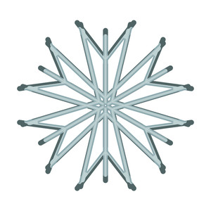 Creative Snowflake Element