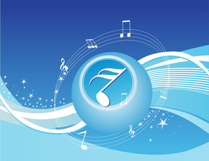 Creative Stars Music Background In Blue
