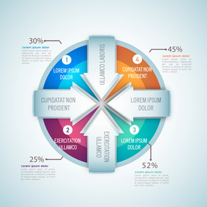 Creative statistical infographic elements with shiny arrows for Business reports and presentation.
