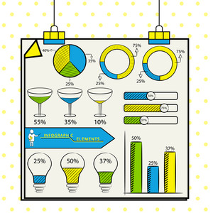 Creative statistical infographic template layout for your business reports and presentation.
