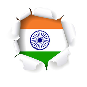 Creative Style Indian Flag Vector Design With Torn Paper Effect. Vector Illustration Eps10.