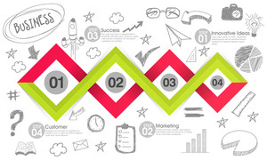 Creative stylish business infographic layout with various infographic elements.