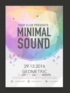 Creative stylish Minimal Sound Music Party celebration