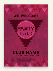 Creative stylish Party celebration flyer banner or template design.
