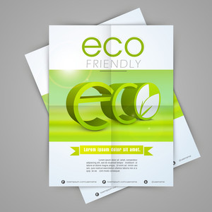 Creative stylish template banner or flyer design for save ecology concept.
