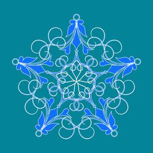 Creative Swirl Snowflake