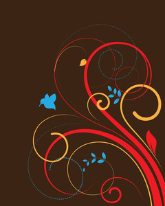 Creative Swirls Vector Background