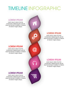Creative Timeline infographic elements with web symbols on shiny background.