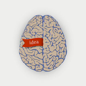Creative  Vector Illustration Human Brain