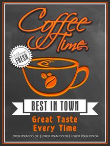 Creative vintage menu card design for Coffee Shop in chalkboard style.