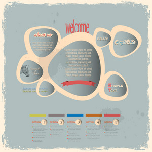 Creative Web Design Bubbles In Vintage Style