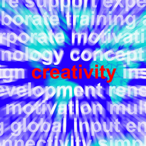 Creativity Word Representing Innovative Ideas And Imagination
