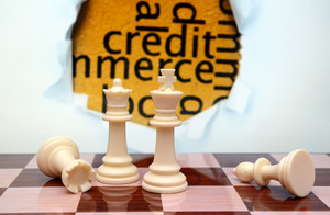 Credit And Chess Concept