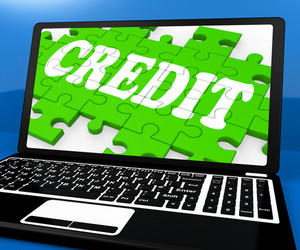 Credit Puzzle On Notebook Shows Online Purchases