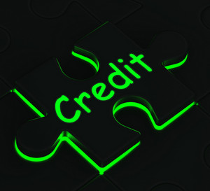 Credit Puzzle Showing Shopping And Buying