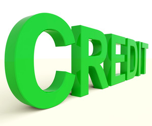 Credit Word As Symbol For Financial Loan