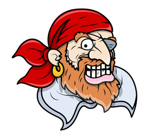 Creepy Pirate - Vector Cartoon Illustration