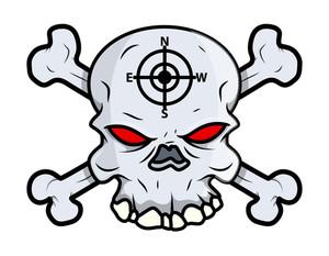 Creepy Skull Vector