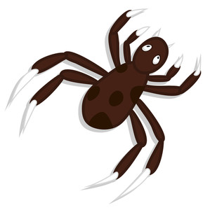 Creepy Spider Vector Art