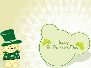 Creme Shamrock Background 17 March