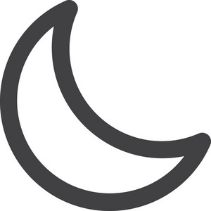 Crescent Moon Stroke Icon