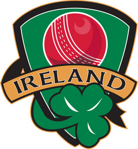 Cricket Ball Shamrock Ireland Shield