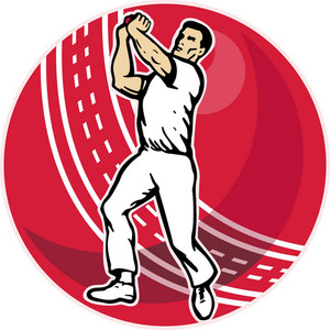 Cricket Bowler Bowling Ball