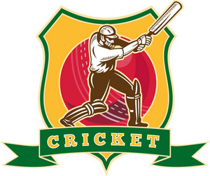 Cricket Player Batsman Batting Ball Shield